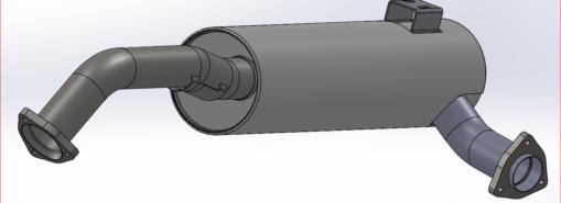 HMMWV Exhaust Muffler