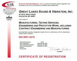 GLSV ISO Certificate