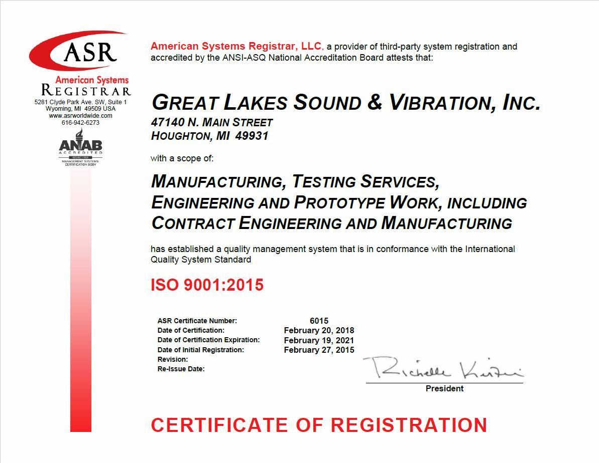 GLSV ISO 9001-2015 Certificate