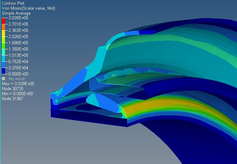 Plenum Seal - simulation results